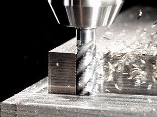 Four-edge end mill
