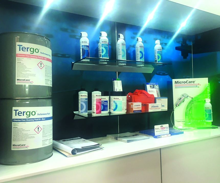 MicroCare display at the show--Tergo cleaning fluid