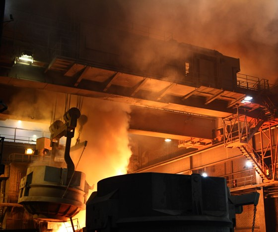 overhead crane in use at Hofors