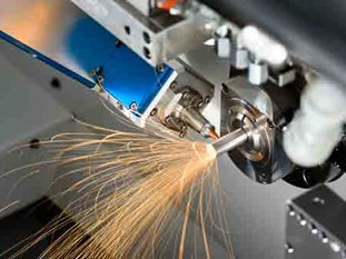 Laser cutting on a Swiss
