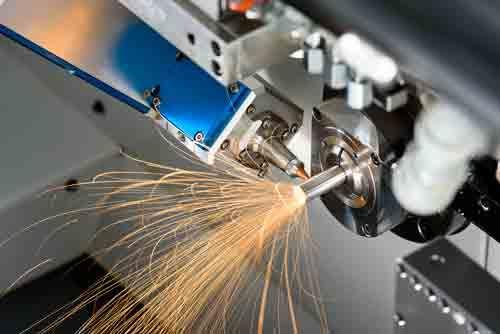 Laser cutting on a Swiss