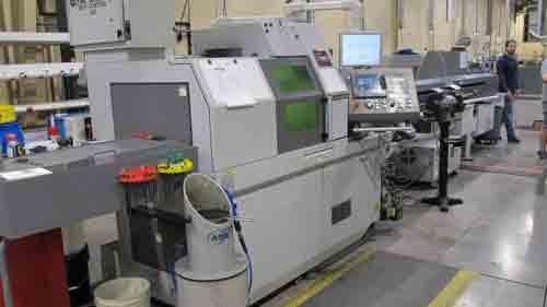 Laser/Swiss machine
