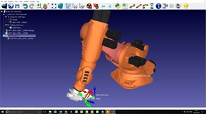 Robot simulation software