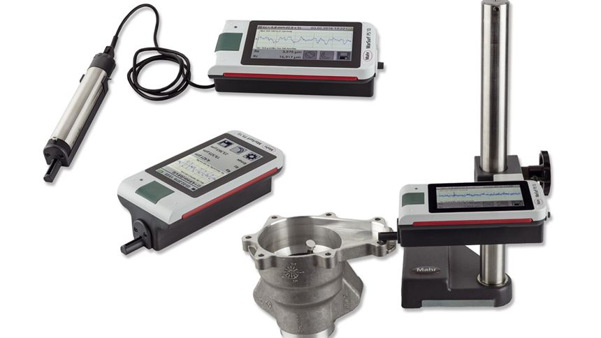 Mobile roughness measuring unit