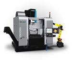 Hurco VMX30Ui with FANUC robot arm