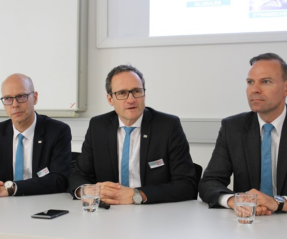 Reiner Hammerl, Dr. Dirk Prust and Haral Klaiber (left to right)