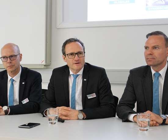 Reiner Hammerl, Dr. Dirk Prust and Haral Klaiber (left to right)