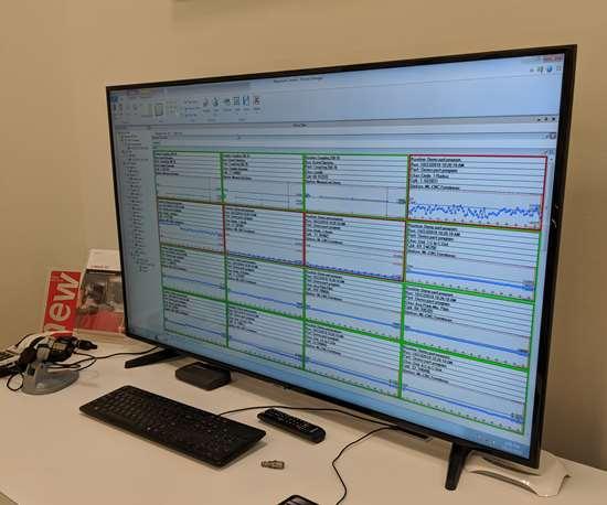 Screen displaying MeasurLink software