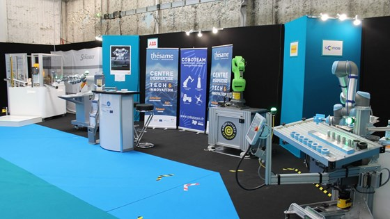 Show-floor area dedicated to cobotics