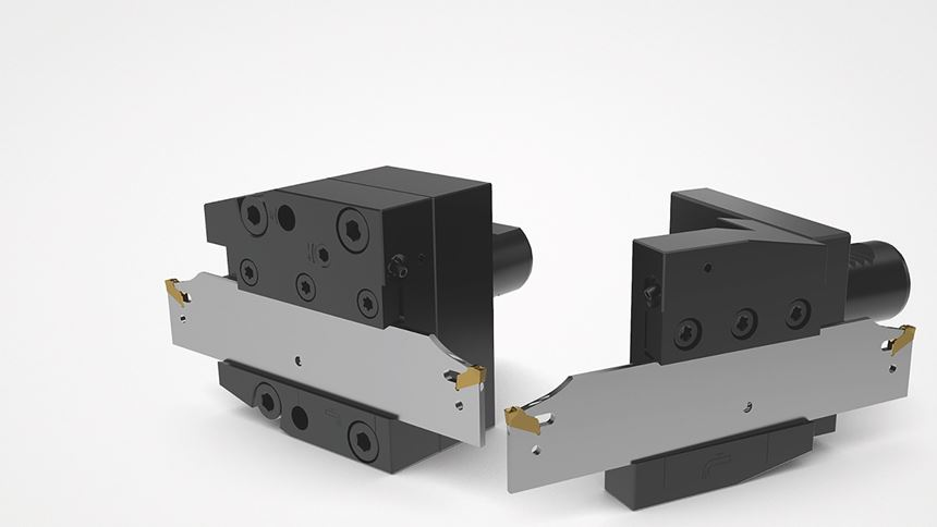 Parting-off blades and square-shank blocks