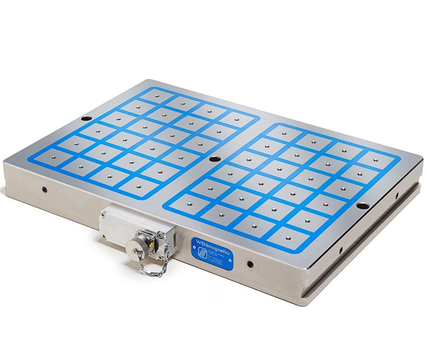 Square-pole electro-permanent magnets