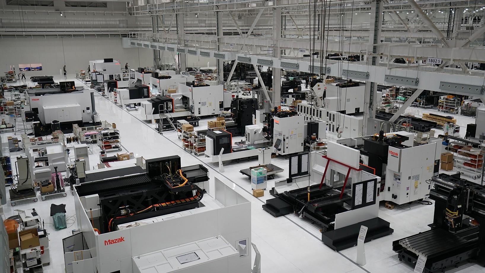 Mazak assembly line