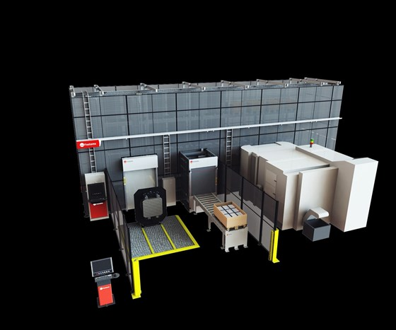 Machine tool pallet automation system
