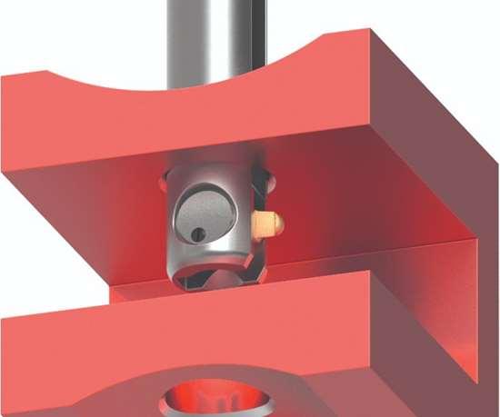 Cofa deburring tool inside of a hole