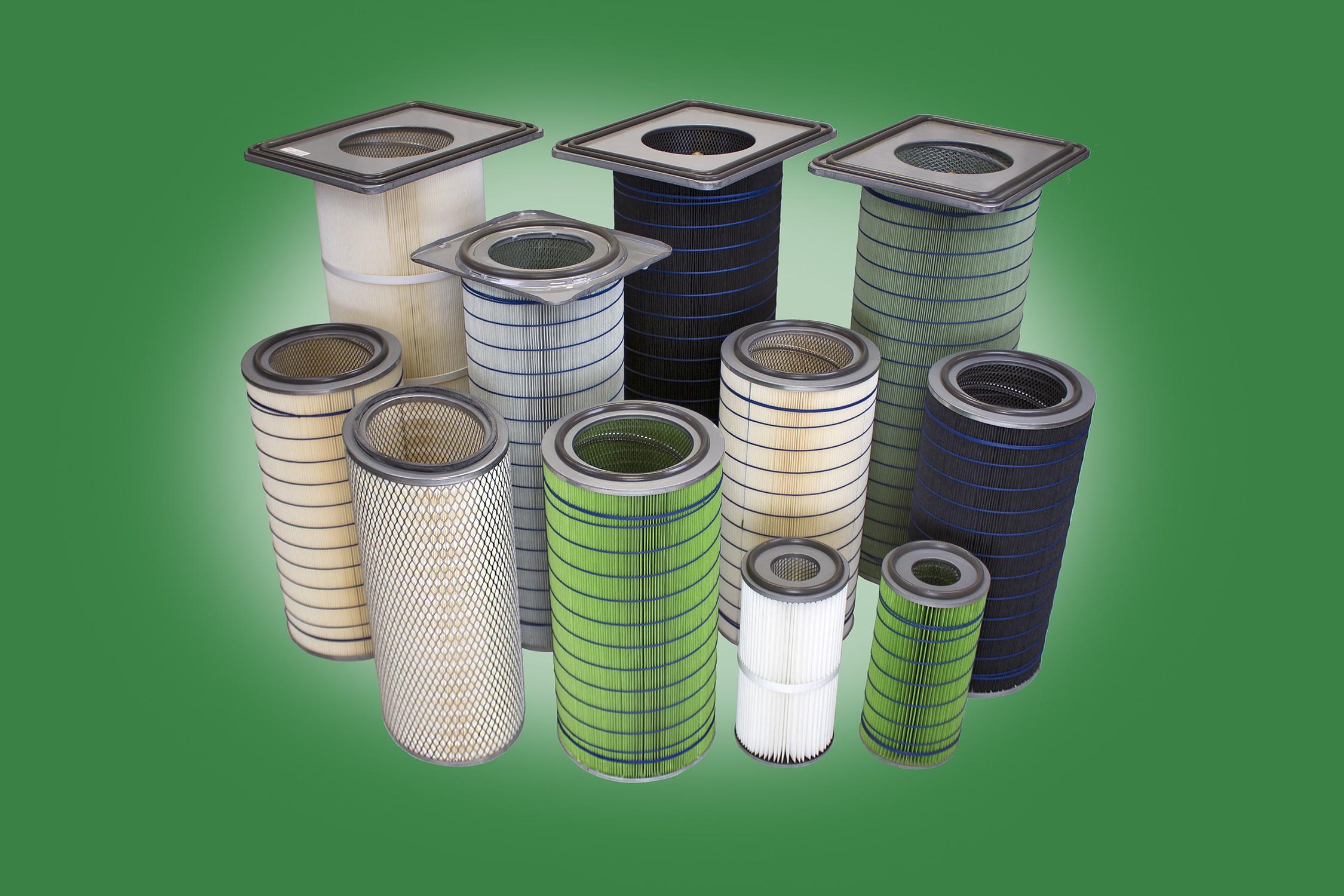 Hemipleat filters