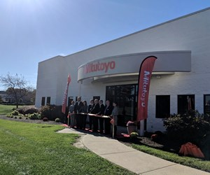 The ribbon-cutting ceremony at Mitutoyo's M3 Solutions center in Mason, Ohio