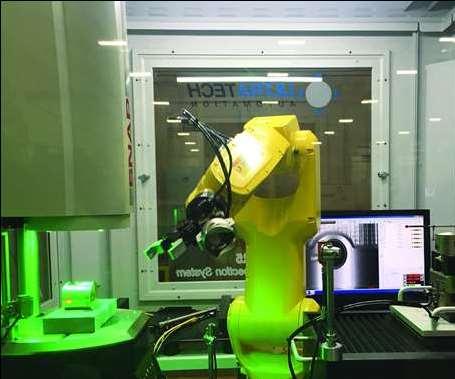 robot arm inside of a machine