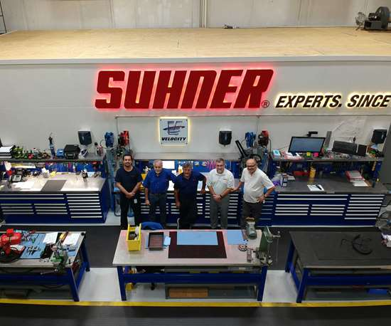inside Suhner's new repair center