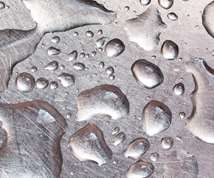 water drops on a metal part