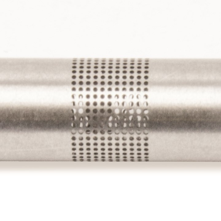 Small holes in metal tube