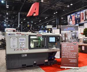 LNT 42 machine in Absolute's booth at a show