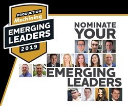 Emerging Leaders logo and faces of 2018 winners