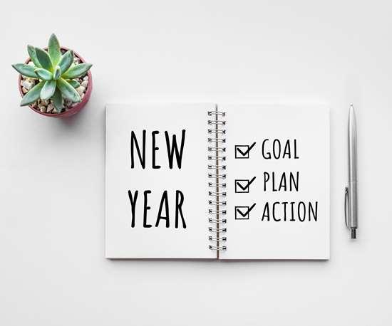 goals in a notebook