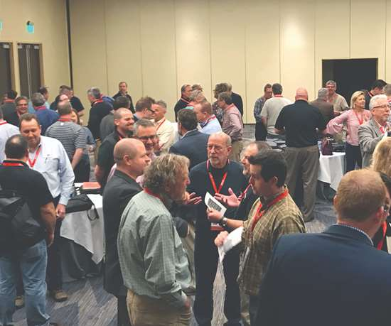 mingling crowd at PMPA meeting