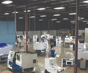 Peerless Machinery's shop floor