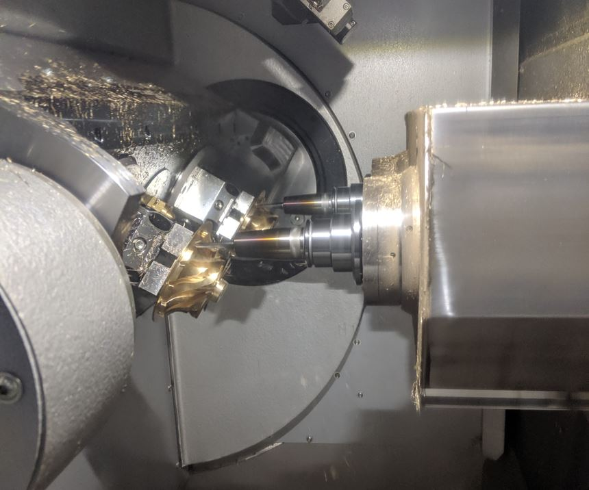 SW's BA W02i two-spindle, five-axis horizontal machining center