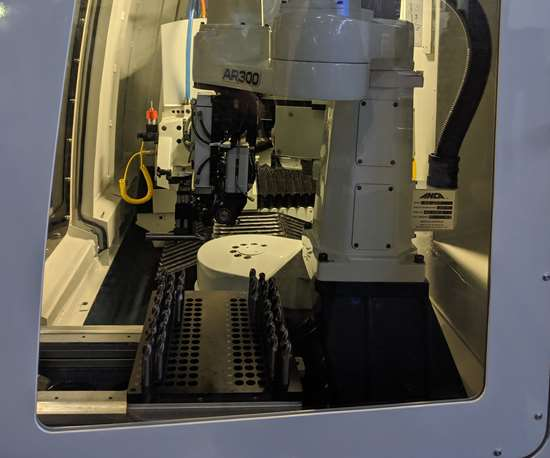 ANCA AR300 automation system in an FX5 grinding machine