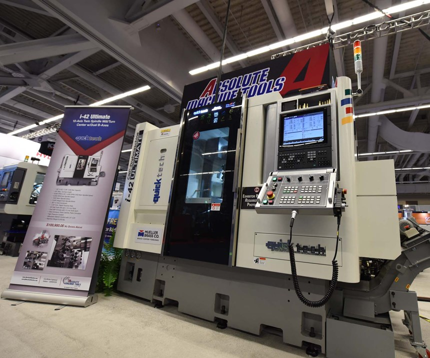 QuickTech i-42 twin-spindle mill-turn machine