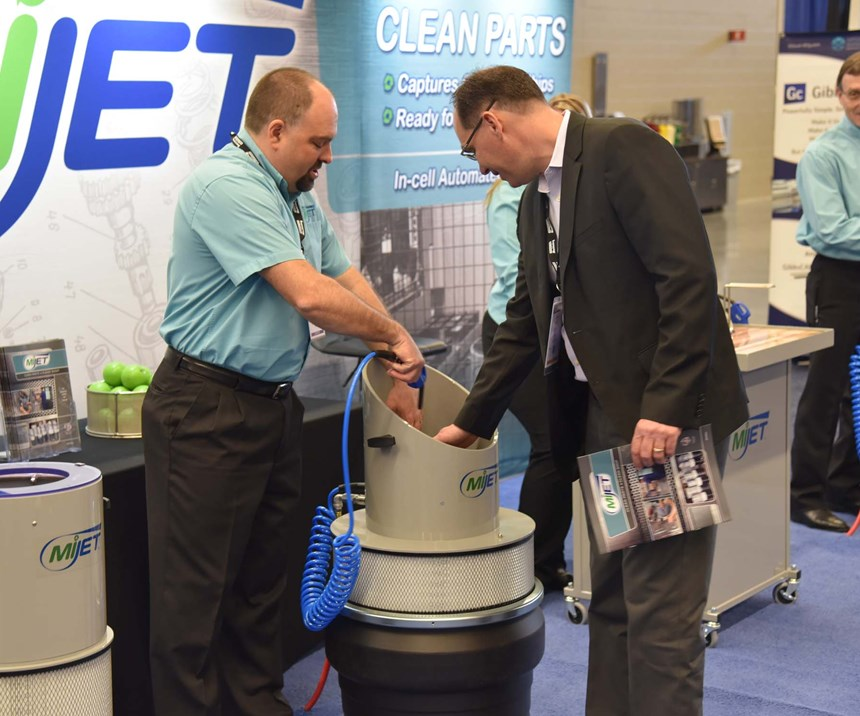Demonstration of a MiJet standalone parts washing system