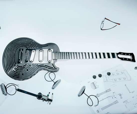 All-metal guitar