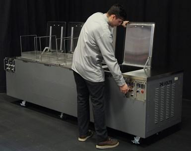 multi-tank ultrasonic machine