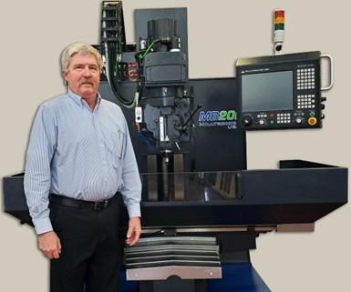 Tim Beer with a Milltronics machine tool