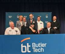 Butler Tech student signs commitment letter for manufacturing job