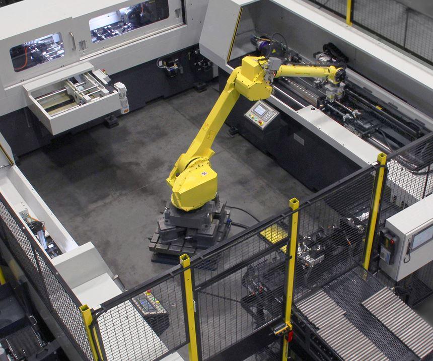gundrilling machine with robot