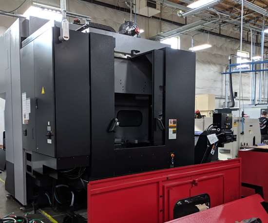 OKK five-axis machining center being assembled
