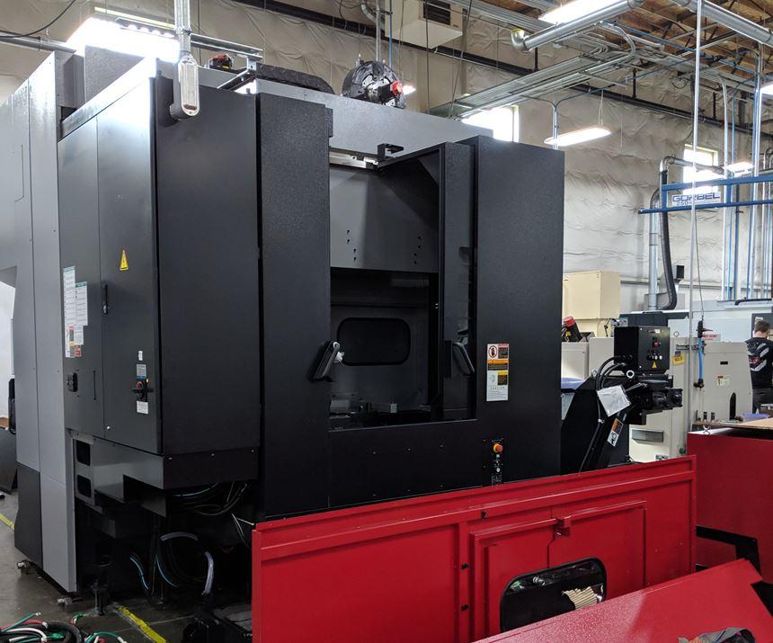 OKK five-axis machining center being assembled