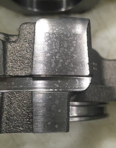 residue on a part