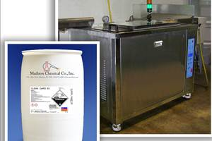 Madison Chemical's Clean-Gard 83 alkaline detergent can be used for ultrasonic cleaning, grease removal and rust prevention.
