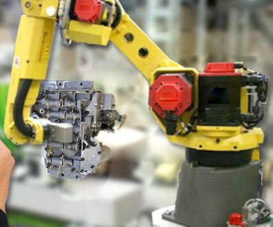 parts cleaning robot arm