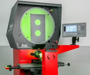Company Expands Horizontal Travel on Optical Comparator