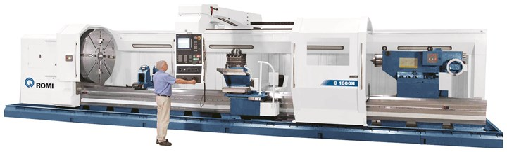 Romi C Series heavy-duty flatbed CNC lathe