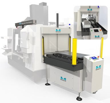 Automatic pallet changer increases productivity.