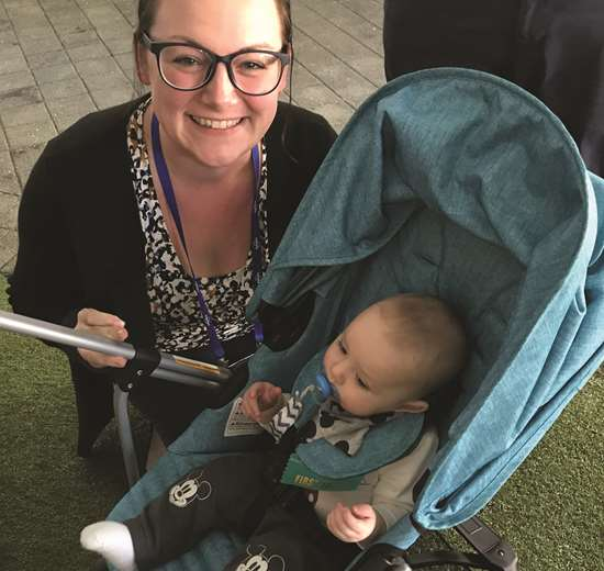 At an evening reception, PMPA's Miles Free declared Baby Mitchell the youngest Update Conference First Timer ever!