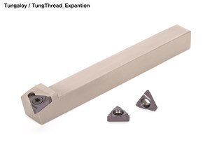 Tungaloy Adds Threading Inserts and Holders for Swiss Lathe Users