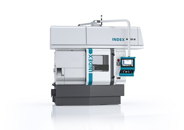 The INDEX MS32-6 multi-spindle automatic lathe.
