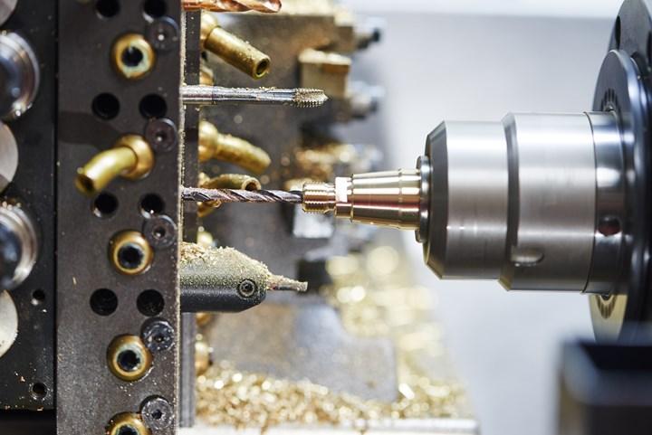 inside a turning machine process